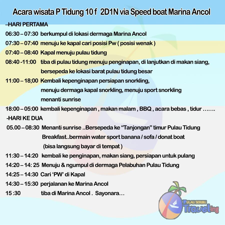 Acara Pulau Tidung 2018 2 Hari 1 Malam